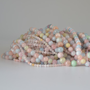 High Quality Grade A Natural Beryl / Morganite Semi-precious Gemstone Round Beads 4mm, 6mm, 8mm, 10mm