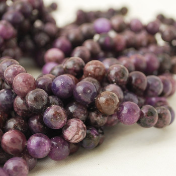 High Quality Grade A Lepidolite (dyed from natural Lepidolite) Semi-precious Gemstone Round Beads - 4mm 6mm, 8mm, 10mm