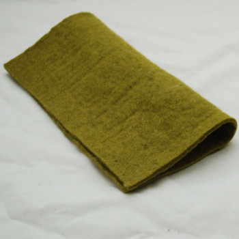 "Handmade 100% Wool Felt Sheet - Approx 5mm Thick - 12"" Square - Olive Green"