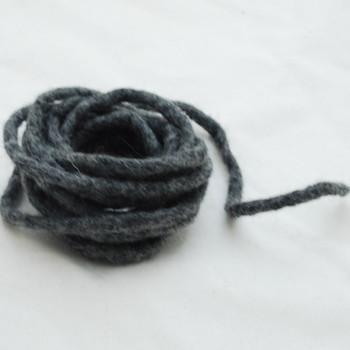 100% Wool Felt Cord - Handmade - 3 Metres - Dark Grey Mix