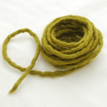 100% Wool Felt Cord - Handmade - 3 Metres - Olive Green