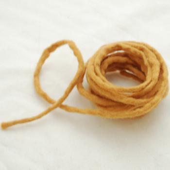 100% Wool Felt Cord - Handmade - 3 Metres - Persian Orange