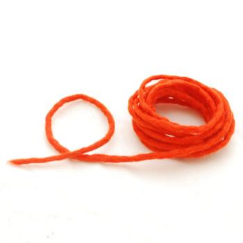 100% Wool Felt Cord - Handmade - 3 Metres - Tangelo Orange