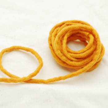 100% Wool Felt Cord - Handmade - 3 Metres - Orange