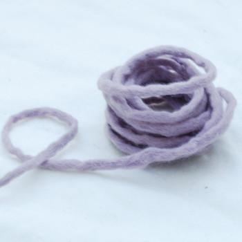 100% Wool Felt Cord - Handmade - 3 Metres - Thistle Purple