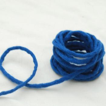 100% Wool Felt Cord - Handmade - 3 Metres - Ultramarine Blue
