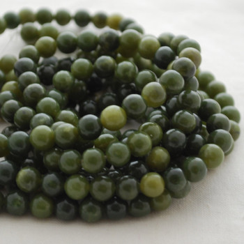 High Quality Grade A Natural Nephrite Jade Gemstone Round Beads 6mm, 8mm, 10mm sizes