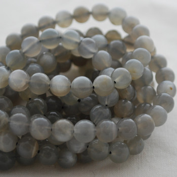 High Quality Grade A Natural Grey Moonstone Gemstone Round Beads 4mm, 6mm, 8mm, 10mm sizes