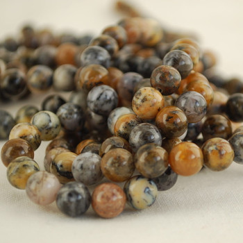 High Quality Grade A Natural Dendritic Moss Opal Gemstone Round Beads 4mm, 6mm, 8mm, 10mm sizes