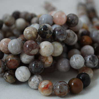 High Quality Grade A Natural Bamboo Agate Gemstone Round Beads 4mm, 6mm, 8mm, 10mm sizes