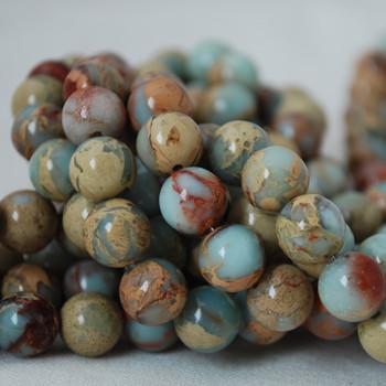 High Quality Grade A Natural Impression Jasper Gemstone Round Beads 4mm, 6mm, 8mm, 10mm sizes
