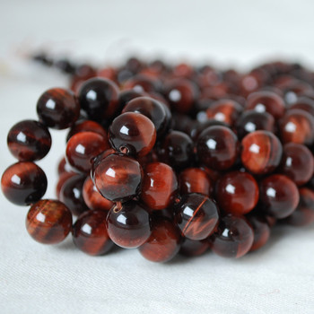 High Quality Grade A Red Tiger's Eye (treated) Gemstone Round Beads 4mm, 6mm, 8mm, 10mm sizes