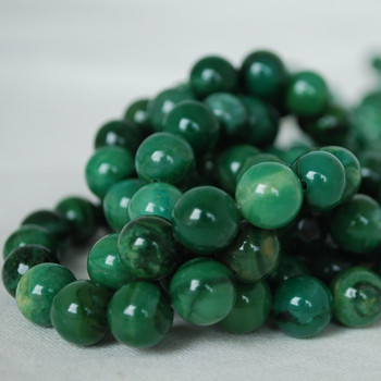 High Quality Grade A Natural Verdite African Jade Gemstone Round Beads 4mm, 6mm, 8mm, 10mm sizes