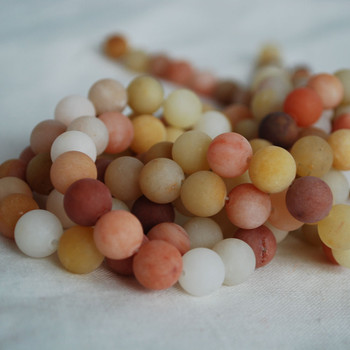 High Quality Grade A Natural Golden Jade Frosted / Matte Semi-precious Gemstone Round Beads 4mm, 6mm, 8mm, 10mm sizes