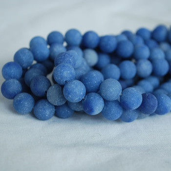 High Quality Grade A Natural Blue Aventurine Frosted / Matte Semi-precious Gemstone Round Beads 4mm, 6mm, 8mm, 10mm sizes
