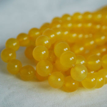 High Quality Grade A Yellow Agate Semi-precious Gemstone Round Beads 4mm, 6mm, 8mm, 10mm sizes