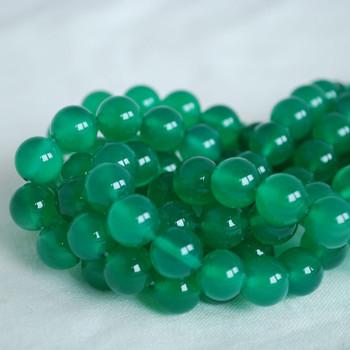 High Quality Grade A Green Agate Semi-precious Gemstone Round Beads 4mm, 6mm, 8mm, 10mm sizes