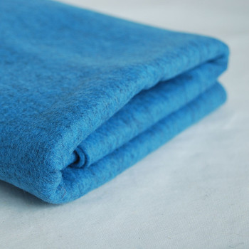 100% Wool Felt Fabric - Approx 1mm Thick - Mottled Blue