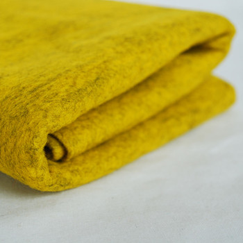 100% Wool Felt Fabric - Approx 1mm Thick - Mottled Yellow