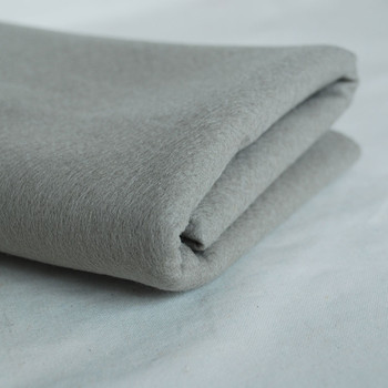 100% Wool Felt Fabric - Approx 1mm Thick - Silver Grey