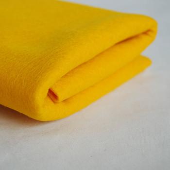 100% Wool Felt Fabric - Approx 1mm Thick - Dark Mustard Yellow