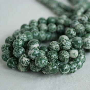 High Quality Grade A Natural Green Spot Jasper Semi-precious Gemstone Round Beads - 4mm, 6mm, 8mm, 10mm sizes