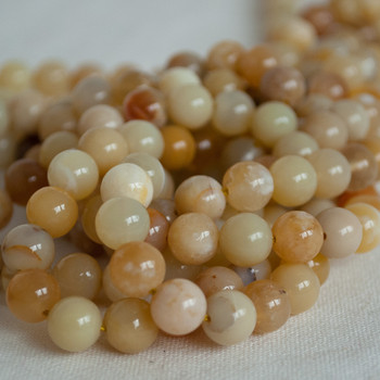 High Quality Grade A Natural Yellow Opal Semi-precious Gemstone Round Beads - 4mm, 6mm, 8mm, 10mm sizes
