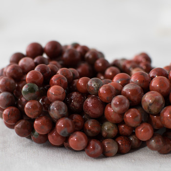 High Quality Grade A Natural Dolomite (red) Semi-precious Gemstone Round Beads - 6mm, 8mm, 10mm sizes