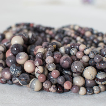 High Quality Grade A Natural Porcelain Jasper Semi-precious Gemstone Round Beads - 4mm, 6mm, 8mm, 10mm sizes