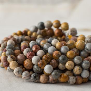 High Quality Grade A Natural Sky Eye Jasper Semi-precious Gemstone Round Beads - 4mm, 6mm, 8mm, 10mm sizes