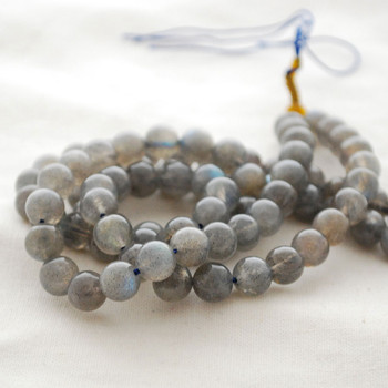 "High Quality Grade AA Natural Labradorite Semi-Precious Gemstone Round Beads - 8mm - approx 15"" long"
