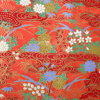 Japanese Handcrafted Yuzen Washi Chiyogami Origami Paper Large sheet - Beautiful Flowers - approx 630mm x 945mm
