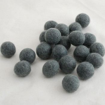 100% Wool Felt Balls - 10 Count - 2cm - Slate Grey