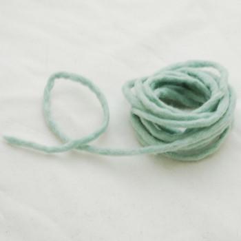 100% Wool Felt Cord - Handmade - 3 Metres - Powder Blue