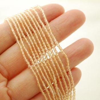 """High Quality Grade A Natural Citrine Semi-Precious Gemstone Round Beads - 2mm - 15.5"""" long"""