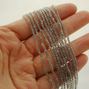 "High Quality Grade A Natural Labradorite Semi-Precious Gemstone FACETED Round Beads - 2mm - 15.5"" long"