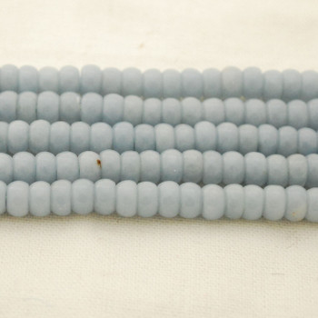 """High Quality Grade A Natural Angelite Semi-Precious Gemstone Rondelle Spacer Beads - approx 6mm x 4mm - 15.5"""" strand"""