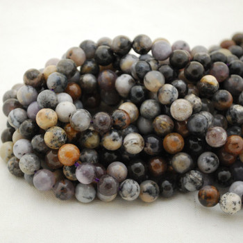 """High Quality Grade A Natural Amethyst Sage Agate Semi-Precious Gemstone Round Beads - 4mm, 6mm, 8mm, 10mm sizes - 15.5"""" long"""