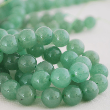 High Quality Grade A Natural Green Aventurine Semi-Precious Gemstone Round Beads - 4mm, 6mm, 8mm, 10mm