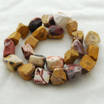 """Raw Natural Mookite Semi-precious Gemstone Chunky Nugget Beads - approx 13mm - 15mm x 18mm - 22mm - approx 15"""" long strand"""