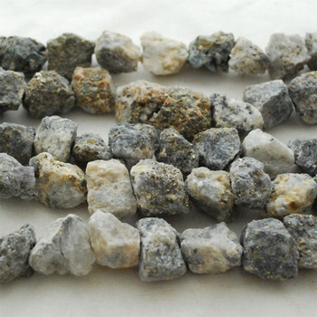 """Raw Natural White Pyrite Semi-precious Gemstone Chunky Nugget Beads - approx 13mm - 15mm x 18mm - 22mm - approx 15"""" long strand"""