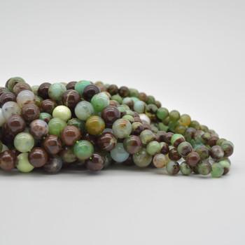 "High Quality Grade A Natural Australia Chrysoprase Semi-Precious Gemstone Round Beads - 6mm, 8mm, 10mm sizes - 15.5"" long"