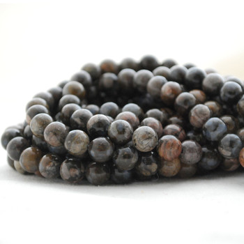"High Quality Grade A Natural Llanite Semi-Precious Gemstone Round Beads - 4mm, 6mm, 8mm, 10mm sizes - 15.5"" long"
