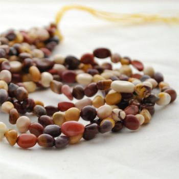 "High Quality Grade A Natural Mookite Semi-precious Gemstone Pebble Tumbledstone Nugget Beads - approx 5mm - 8mm - 15"" long strand"