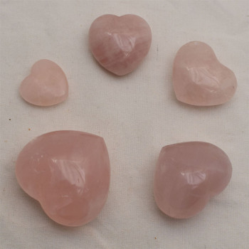 High Quality Natural Rose Quartz Semi-precious Gemstone Heart - 1 Gemstone Heart - 3cm, 4cm, 4.5cm, 5cm, 5.5cm, 6cm sizes