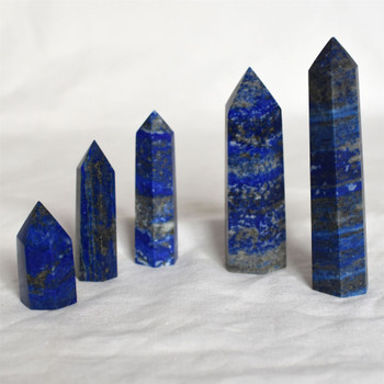 Natural Lapis Lazuli Semi-precious Gemstone Point / Tower / Wand  - 1 Count - Various sizes