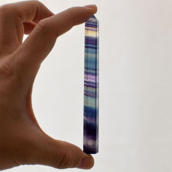 Natural Rainbow Fluorite Semi-precious Gemstone Point / Tower / Wand  - 1 Count - Various sizes