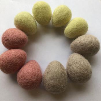 100% Wool Felt Large Raindrops / Teardrops / Eggs - 10 Count - Milkshake Mix