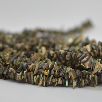 """High Quality Grade A Natural Abalone Semi-precious Gemstone Chips Nuggets Beads - 5mm - 8mm, approx 15.5"""" Strand"""