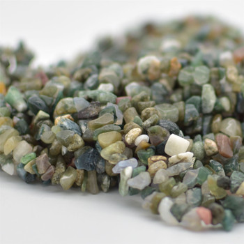 """High Quality Grade A Natural Fancy Agate Semi-precious Gemstone Chips Nuggets Beads - 5mm - 8mm, approx 36"""" Strand"""
